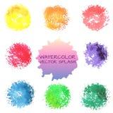 Ljusa vattenfärgvektorfläckar Fotografering för Bildbyråer