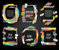 Ljusa vektorramar för designinbjudningar Royaltyfri Bild