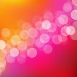 Ljusbakgrund med Bokeh Arkivbild