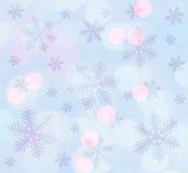 Ljusblå julbakgrund Arkivfoto