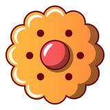 Ljusbrun symbol för blomma, tecknad filmstil royaltyfri illustrationer