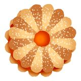 Ljusbrun symbol för blommagelé, tecknad filmstil royaltyfri illustrationer