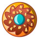 Ljusbrun symbol för Choco blomma, tecknad filmstil stock illustrationer