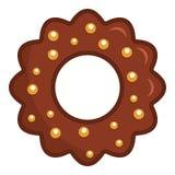 Ljusbrun symbol för choklad, lägenhetstil vektor illustrationer
