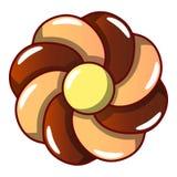 Ljusbrun symbol för choklad, tecknad filmstil vektor illustrationer