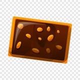 Ljusbrun symbol för chokladmutter, tecknad filmstil stock illustrationer