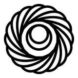 Ljusbrun symbol för gelé, översiktsstil royaltyfri illustrationer