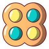Ljusbrun symbol för godis, tecknad filmstil royaltyfri illustrationer