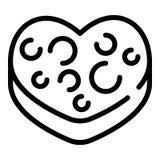 Ljusbrun symbol för hjärta, översiktsstil vektor illustrationer