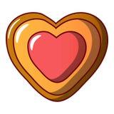 Ljusbrun symbol för hjärta, tecknad filmstil royaltyfri illustrationer
