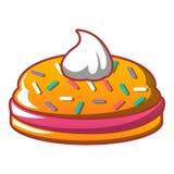 Ljusbrun symbol för krämsmörgås, tecknad filmstil vektor illustrationer