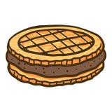 Ljusbrun symbol för smörgås, utdragen stil för hand vektor illustrationer