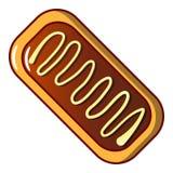 Ljusbrun symbol, tecknad filmstil stock illustrationer