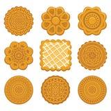 Ljusbruna chipkakor royaltyfri illustrationer