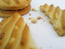 Ljusbruna smörgåskakor royaltyfri fotografi