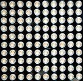 100 ljusdioder Arkivbild