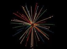 Ljuseffekt från julljus Royaltyfri Bild