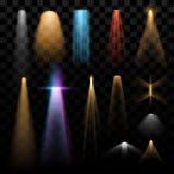 Ljuseffekter vektor illustrationer