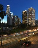 Ljusen av LA royaltyfri fotografi
