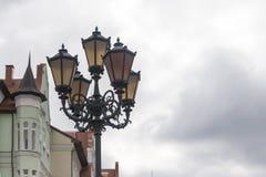 Ljusen i den gamla staden Arkivbilder