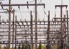 Ljuset är van vid överför elektricitet till allmänheten Arkivfoton