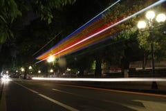 Ljuset i Guangzhou Arkivbild