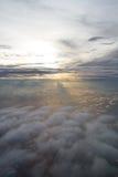 Ljuset och molnet Royaltyfria Foton