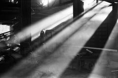 Ljuset som exponerar mitt arbete Arkivfoton