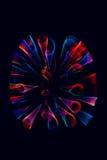 Ljusformer med handlag Arkivbilder