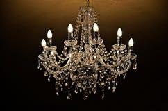 Ljuskrona av kristallen Royaltyfri Foto