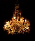Ljuskrona för Venetian exponeringsglas Arkivbilder