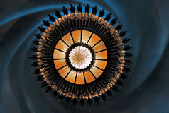 Ljuskrona i casaen Batllo, Barcelona Royaltyfri Foto
