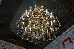 Ljuskrona i interior av den Stroganov slotten Royaltyfria Bilder