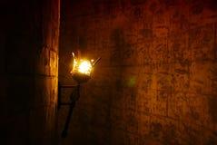 Ljuskrona på vaggaväggen Arkivbild