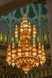 Ljuskronadetalj av Muscat den storslagna moskén - 3 Royaltyfria Foton