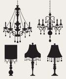 ljuskronalampor royaltyfri illustrationer