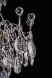 Ljuskronaljus i inre, Chrystal ljuskronanärbild crystal del från ljuskronan, ljuskrona, belysning, utrustning, lyx, Arkivfoto