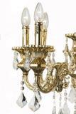 Ljuskronaljus i inre, Chrystal ljuskronanärbild crystal del från ljuskronan, ljuskrona, belysning, utrustning, lyx, Arkivbilder