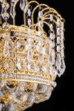 Ljuskronaljus i inre, Chrystal ljuskronanärbild crystal del från ljuskronan, ljuskrona, belysning, utrustning, lyx, Arkivfoton