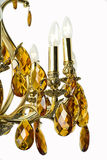 Ljuskronaljus i inre, Chrystal ljuskronanärbild crystal del från ljuskronan, ljuskrona, belysning, utrustning, lyx, Royaltyfri Bild