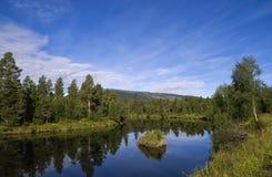 Ljusnan-Fluss Stockfoto