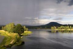The Ljusnan river near Jarvso Stock Photography