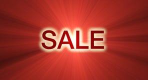 ljusröd försäljning för banersignalljus Royaltyfri Fotografi