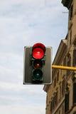 ljusröd signaleringstrafik Arkivbilder