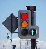 ljusröd signaleringstrafik Royaltyfri Foto
