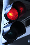 ljusröd trafik Arkivbild