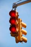 ljusröd trafik Royaltyfria Bilder