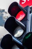 ljusröd trafik för färg royaltyfria foton
