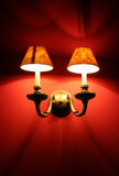ljusröda lampor Fotografering för Bildbyråer