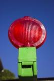 ljusrött vägarbete Fotografering för Bildbyråer